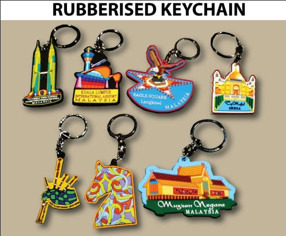 Rubberised Keychain